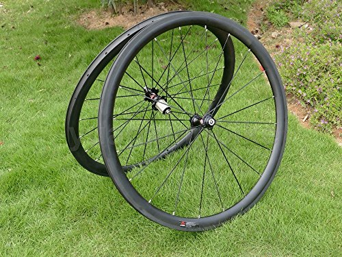 Carbonio Ud opaca Road Bike Clincher Wheel Rim 38 mm Basalto Freno laterale Larghezza 25 mm Toray Carbon Ruote per Campagnolo