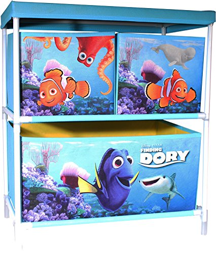 Findet Dory Spielzeugregal Aufbewahrung mit 3 Körben 53 x 30 x 60cm (Olivia Schlafanzug)
