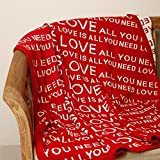 PLUCHI All You Need Is Love Red & Natura...