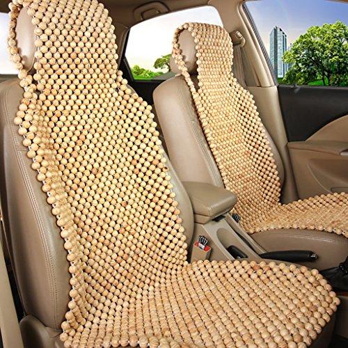 Sommer Auto Kissen Holz Perle Auto Sitzbezug Komfortable und atmungsaktive Universal Kissen 2 Sitze oder 5 Sitze (3 Farben erhältlich) ( Farbe : 3# , größe : B ) (Perlen Sitz-kissen)