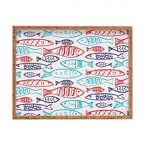 DENY Designs Zoe wodarz-Catch of the Day Tablett, rechteckig, 14x 18