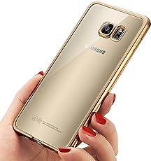 Mture Schutzhülle Samsung Galaxy S7 Hülle , Kratzfeste Plating TPU Case für Galaxy S7 Bumper Case , Crystal Clear Silikon Case Handyhülle Tasche für Galaxy S7 Case Cover-Gold
