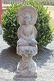 Asien LifeStyle Amitabha Buddha aus Granit Stein - frostsicher