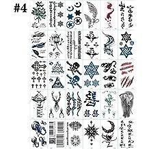 Kapmore Etiqueta Engomada Temporal Del Tatuaje Del Modelo De La Letra De 30 Del Tatuaje Temporal