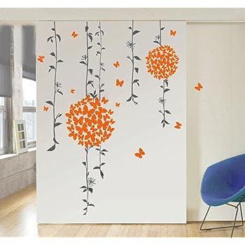 Decals Design StickersKart Wall Stickers Orange Butterflies Bathroom Decal (Multi-Colour)
