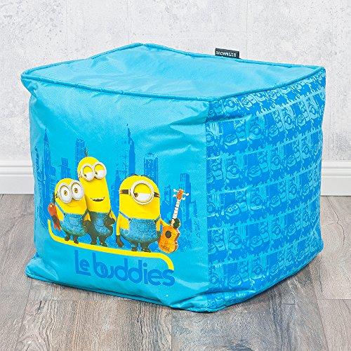 Hocker LE BUDDIES Minions 40x40cm blau Kinderhocker Sitzwürfel Kinderzimmer