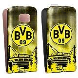 DeinDesign Samsung Galaxy S6 Edge Tasche Hülle Flip Case BVB Muster Borussia Dortmund