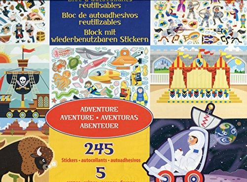 Melissa & Doug Wiederbenutzbarer Stickerblock - Abenteuer (245 Sticker)