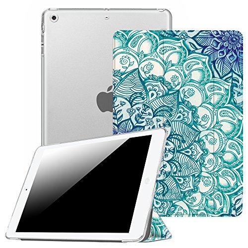Fintie Hülle für iPad Air 2 (2014 Modell) / iPad Air (2013 Modell) - Ultradünne Superleicht Schutzhülle mit Transparenter Rückseite Abdeckung mit Auto Schlaf/Wach Funktion, smaragdblau
