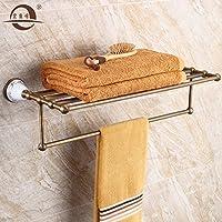 KHSKX American rame bronzo imitazione portasalviette bagno asciugamani bagno in