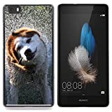 [ For HUAWEI ASCEND P8 LITE ][ Xtreme-Cover ] [ Hart Rückseite Schutzhülle Case ] - Funny Friendly Dog On A Bench