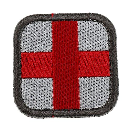 Sharplace Outdoor im Freien Erste Hilfe Rotes Kreuz Patch Erste-Hilfe Beutel Rucksack Aufkleber Abzeichen - Weiß