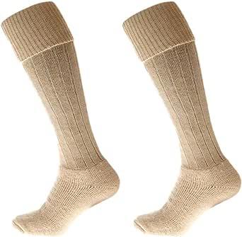 Alpaca Country socks Knee High Turn Down 75% Alpaca Wool,Cushion Sole, Long thick, Shooting, hiking, climbing,
