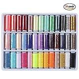 Hilos de Coser, Hilos de Bordar de Poliéster Resistente Mucho Color Ideal para Acolchar Coser a Mano Coser 39 packs