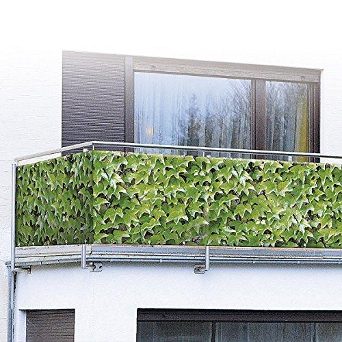 WENKO 1200287 - Protezione visiva fotografica per balcone, motivo: vite selvatica