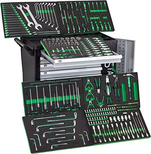 Preisvergleich Produktbild XXL Edition   Werkzeugwagen - Werkstattwagen - 6 Schubladen gefüllt mit Werkzeug   Bit Sets, Ratschen, Nüsse und vieles mehr...