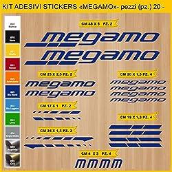 Kit Pegatinas Stickers Bicicleta MEGAMO -20 piezas- Bike Cycle Cod. 0831 (049 BLU ROYAL)