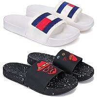 Zenwear Combo Pack of 2 Flip-Flops & Slippers for Men for Men