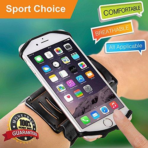 """Sportarmband Schutzhülle Armband Universal Workout Handy Halterung 180° drehbar Schweiß-für Gym Laufen Wandern Radfahren kompatibel mit iPhone X 8Plus 766S Galaxy Note 8S8S7& 10,2cm 14""""Telefon"""