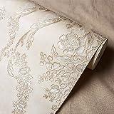 LISABOBO Non-tissé de luxe européen, papier peint papier peint gaufré 3d'arrière-plan de salon mur de papier-A
