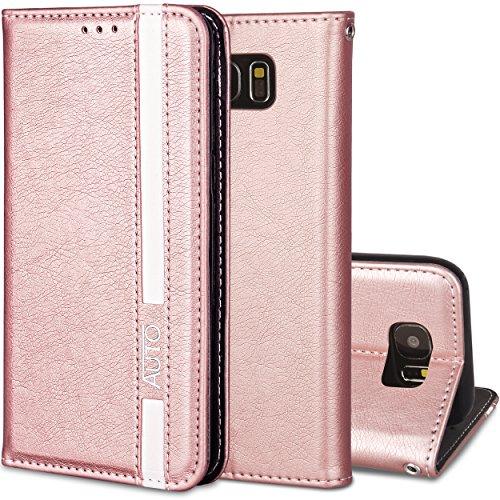 Preisvergleich Produktbild Roreikes Samsung Galaxy S7 Hülle, Galaxy S7 Case,  Business Stil Wallet Folio PU Leder Handyhülle Tasche Flip Case Brieftasche Etui Schutzhülle für Samsung S7 Cover