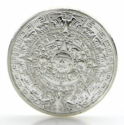 Calendario Maya Azteca Recuerdo Plateado Moneda conmemorativa Colección maya Calandrar acuñar