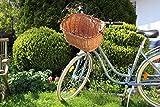 Alpenfell Fahrradkorb vorne 2 in 1 - Eckig Hundekorb Hundefahrradkorb Weidenkorb Bastkorb Fahrrad Korb - handarbeit - geflochten - Mittel - 45 x 35 x 45cm