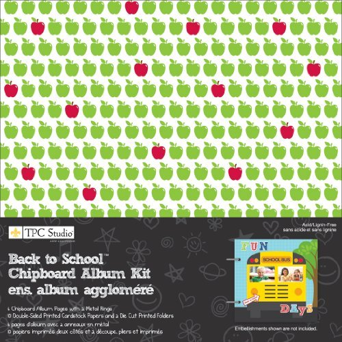 Back To School 8x8 Chipboard Album Kit by TPC Studio - Chipboard Album Kit