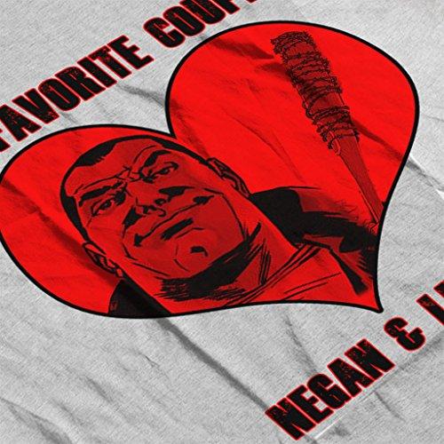 Cloud City 7 Walking Dead Negan and Lucille Favourite Couple Women's Vest Heather Grey