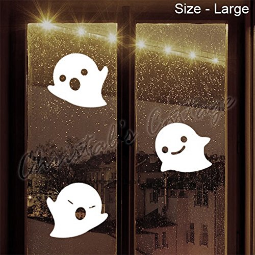 3 ou 9 Cute Ghosts Halloween effrayant Décoration Autocollant en vinyle Windows voitures de murs, - violet
