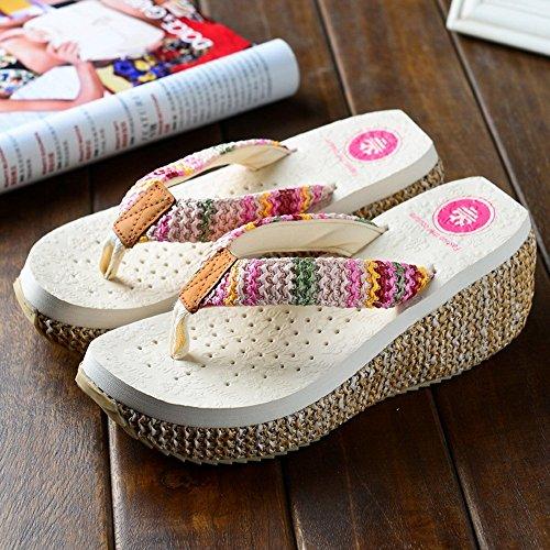 Pattini di modo delle nuove signore di estate Sandali femminili della spiaggia scivolosa per 18-40 anni ( Colore : #1 , dimensioni : EU36/UK4/CN36 ) #1