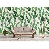 Papel Pintado/Murales de Pared (130 x 275 cm, Cactus, Papel Pintado Desmontable, Vinilos Decorativos Pared, Adhesivo Reposicionable)