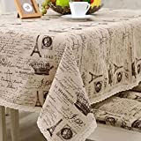 #7: NarwalDate European Hot Sale Universal Linen Coffee Tablecloths/ Table Cover with Small Crown Pattern for Picnic or Wedding - 90*90cm