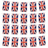 HusDow Union Jack Bunting, 9M 30ft British Banner Fabric Flag with 20 Flags, Perfect for Birthday Party Decoration Wedding National Day Celebration (20cmx30cm)