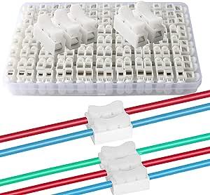 Qitindasen 62pcs Premium Schnelldrahtverbinder Set Federverbindungsstück Verbindungsklemmen Kabelklemme Klemmenblock 50pcs Ch2 12pcs Ch3 Baumarkt