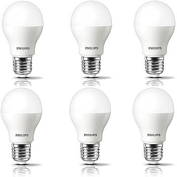 Philips Base E27 2.7-Watt LED Bulb (Pack of 6, Warm White)