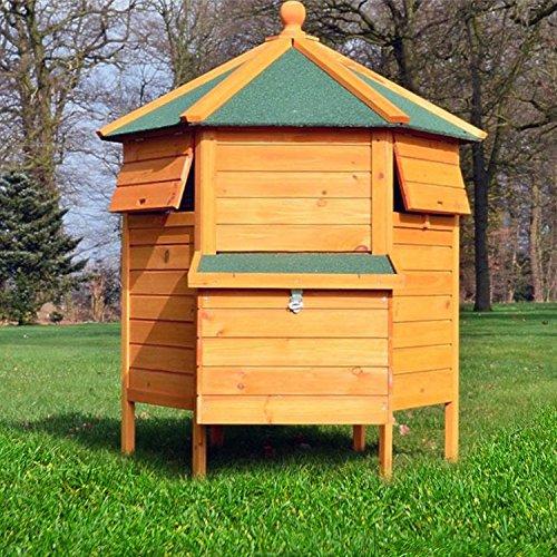 """ZooPrimus Hühner-Stall Nr 28 Geflügel-Voliere """"HÜHNER-PAVILLON"""" Enten-Haus für Außenbereich (Geeignet für Kleintiere: Hühner, Geflügel, Vögel, Enten usw.) - 5"""