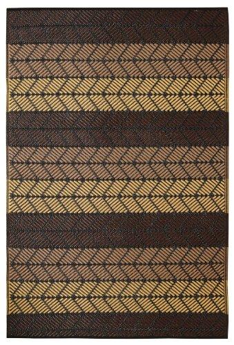Fab Hab - Seattle - Alfombra para Exterior e Interior - Castaña y Melón de Verano - (180 cm x 270 cm)