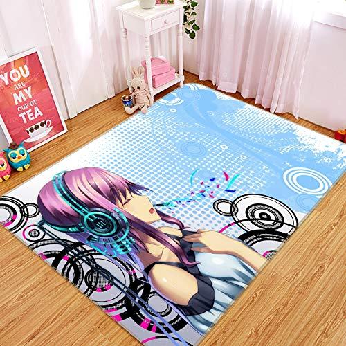 """Preisvergleich Produktbild 3D Hatsune Miku 45 Japan Anime Spielteppich Raummatte,  rutschfest,  rund,  hochwertig,  elegant H160cmxW240cm63""""x94.5"""""""