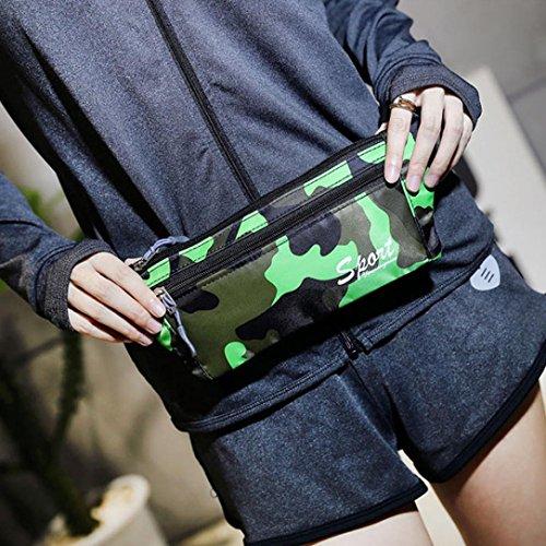 Canvas Outdoor Borsa Sportiva, Unisex Outdoor Sport Camouflage Canvas Crossbody Borsa A Tracolla Petto Borsa di Kangrunmy Verde
