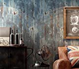 PEIWENIN-Retro Retro Plain Wallpapers Vliesstoffe Zement Wand Muster Industrial Style Wallpapers Bars Restaurant Cafes Individuelle Kunst Aufkleber, grau