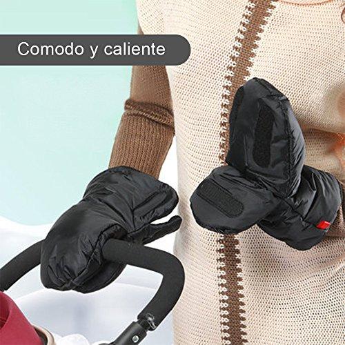 Rovtop Manoplas Carrito Bebe de Nylon Impermeable para cochecitos  coches eléctricos  manillar de bicicleta  guantes de protección de invierno prueba de viento