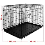 Dog Puppy Metal Cage 2 Door Cat Crate Training Transport Folding Portable Crate Small Medium and Extra Large