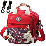 Sac A Langer Petit Format Voyage Rouge Toile Couche Multifonction Havresac Compact Sac Poche