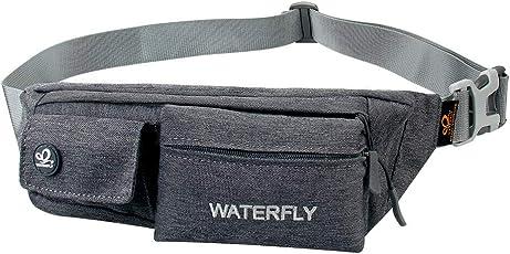 WATERFLY Running Waist Bag Water Resistant Waist Pouch Fanny Packs for Men Women Outdoor Sport Climbing Walking Riding