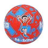 #1: Lionbuzz Red Blue Nobita Kids Football - Size 3, Synthetic, 1 Football and 1 Needle