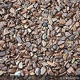 Steinteppich Marmorkies für 2qm | BEKATEQ BK-600EP Bodenbelag Bodenbeschichtung (25KG Marmorkies + 1,5KG Bindemittel, Braun - Marrone Mogano)