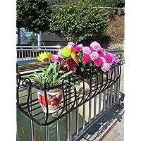Ferro Ringhiere Flower Pot Rack, Hanging piante Scaffale, a parete