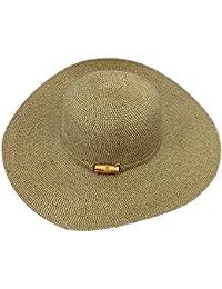16bf042d09c Sun N  Sand Womens Paperbraid Metalic Lurex Wide Brim Hat Brown