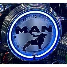 Neon reloj – Camión MAN – Neon Azul – Taller Reloj de pared ...